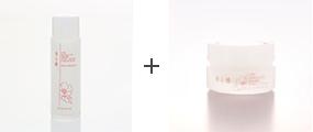 「香る椿 ホワイトモイスチャークリーム」と併せてお使いになると、より保湿効果がアップします。